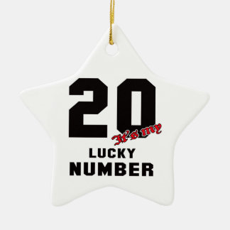 20 It's my lucky number Ceramic Star Decoration