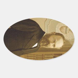 20 James Abram Garfield Oval Sticker