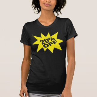 20 Percent Off Fitted Twofer Sheer T-Shirt