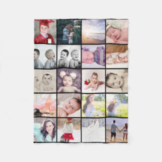 20 photos collage make your own personalised fleece blanket