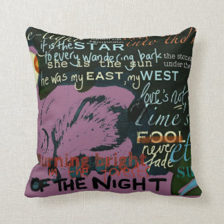 "20"" Pink Love Quotes Cushion from Shakespeare"