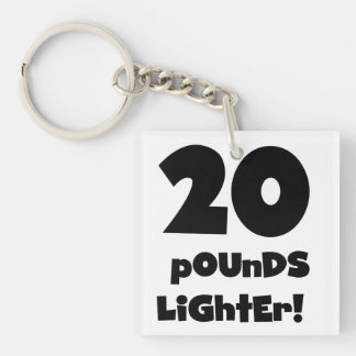 20 Pounds Lighter Double-Sided Square Acrylic Key Ring