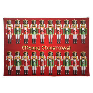 20 Red And Green Xmas Nutcracker Toy Soldiers Placemat