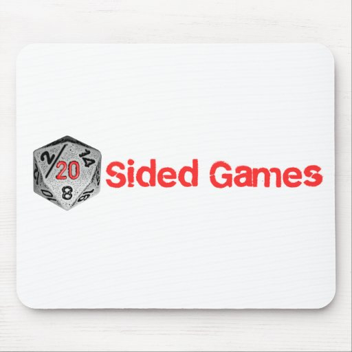 20 Sided Games - Mouse Pad - Full Logo