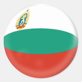 20 small stickers Bulgaria flag