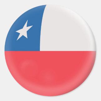 20 small stickers Chile Chilean flag