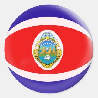 20 small stickers Costa Rica flag
