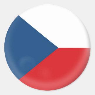 20 small stickers Czech Republic flag