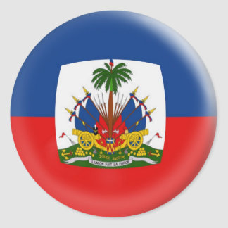 20 small stickers Haiti bubble flag