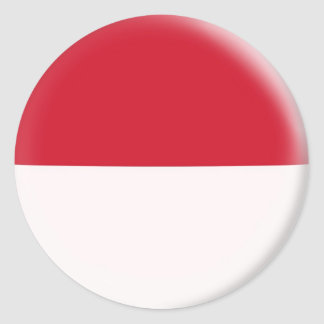 20 small stickers Indonesia flag