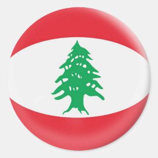 20 small stickers Lebanon flag