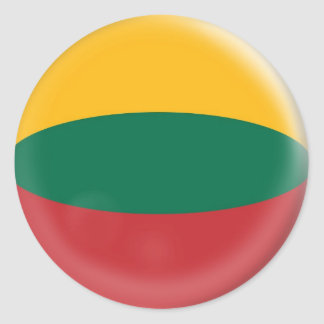 20 small stickers Lithuania Lithuanian flag