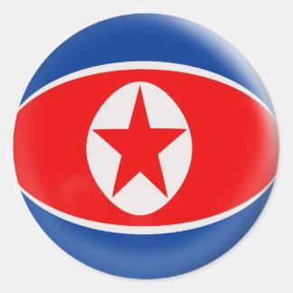 20 small stickers North Korea flag