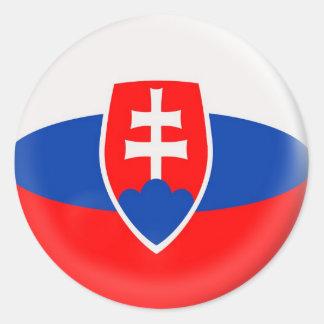20 small stickers Slovakia Slovak flag