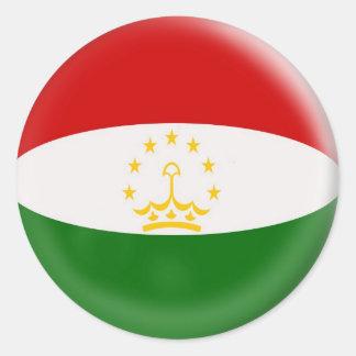 20 small stickers Tajikistan flag