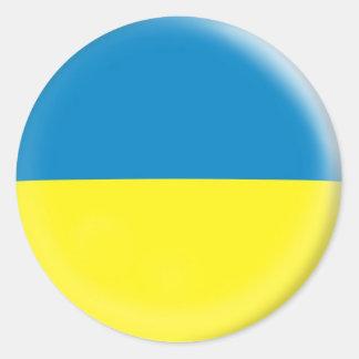 20 small stickers Ukraine flag