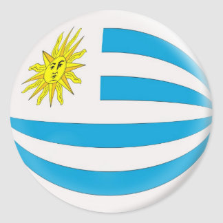 20 small stickers Uruguay flag