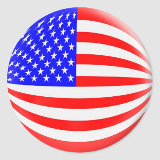 20 small stickers USA American flag