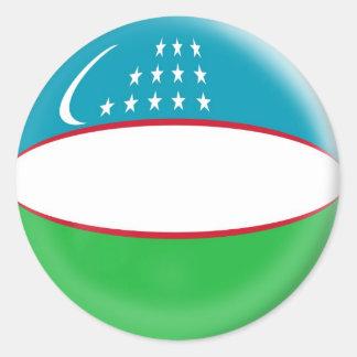 20 small stickers Uzbekistan flag