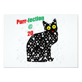 20 Snow Cat Purr-fection 13 Cm X 18 Cm Invitation Card