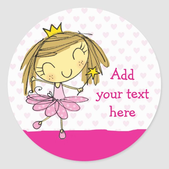♥ 20 STICKERS ♥ Cute Pink Princess Ballet