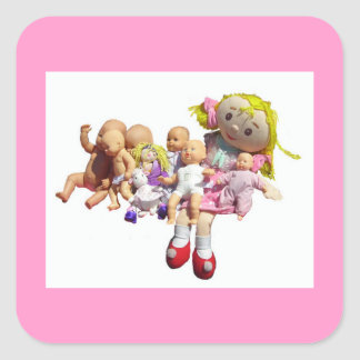 20 Stickers - Nine Dollies in a Row