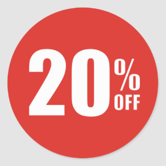 20% Twenty Percent OFF Discount Sale Sticker