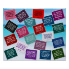 20 Volleyball Quotes in Colour Poster