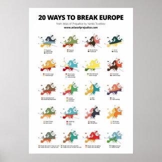 20 Ways to Break Europe Poster