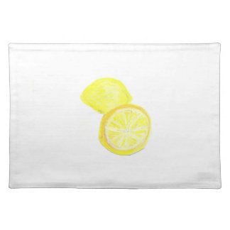 "20""x14"" TABLE PLACE MAT LEMONS - PASTEL ART"