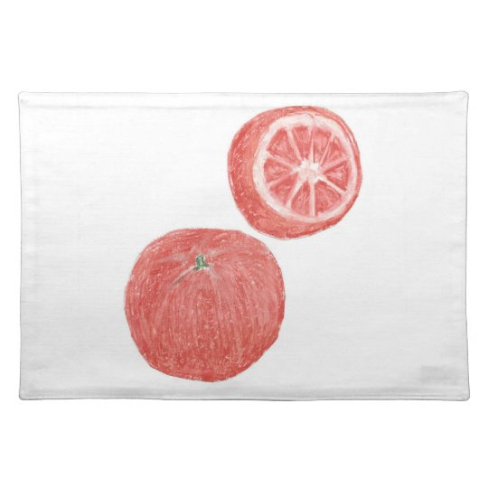 "20""x14"" TABLE PLACE MAT ORANGES - PASTEL ART"