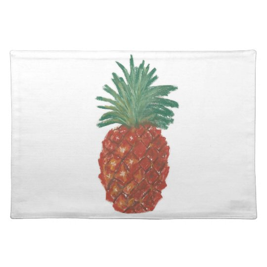 "20""x14"" TABLE PLACE MAT PINEAPPLE - PASTEL ART"