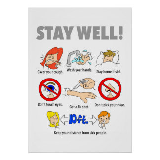 """20""""x28"""" STAY WELL Poster"""