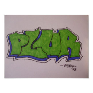 20 x 15 PLUR Graffiti Poster