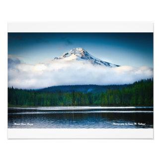 "20"" x 16"" Mount Hood from Trillium Lake Photograph"