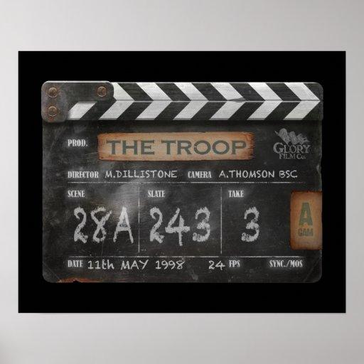 """20"""" x 16"""", Troop Film Vintage Clapperboard Poster"""
