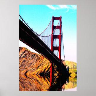 20 X 24 SEMI-GLOSS GOLDEN GATE BRIDGE POSTER