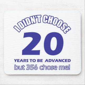 20 years advancement mousepad