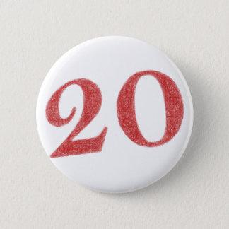 20 years anniversary 6 cm round badge