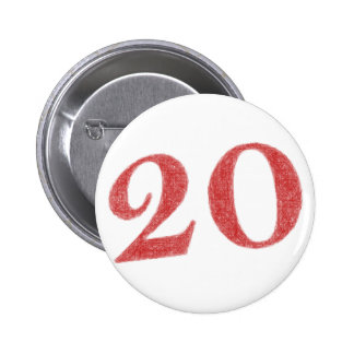 20 years anniversary 6 cm round badge