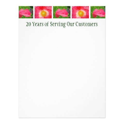 20 Years of Serving Our Customers Flyers Poppies
