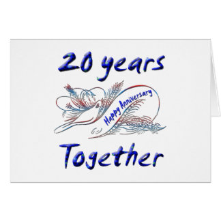 20 Years Together Greeting Card