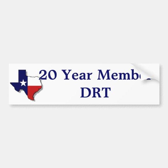 20 Yr Member Bumper Sticker