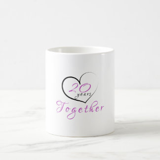 20th Anniversary 20 Years Together Heart Mug