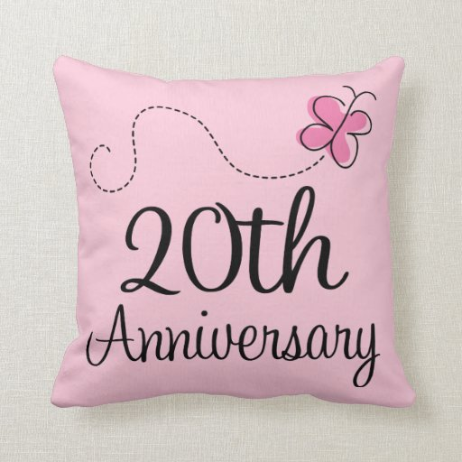 20th anniversary celebration gift butterfly pillows zazzle for What do you give for a 20 year anniversary