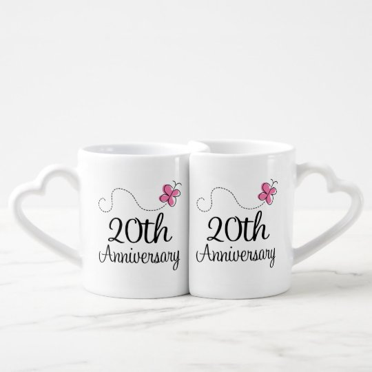 20th Anniversary Couples Mugs