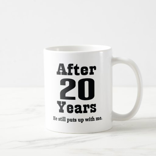 20th Anniversary (Funny) Coffee Mugs