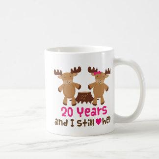 20th Anniversary Gift For Him Basic White Mug