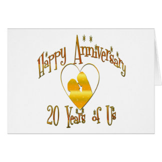 20th. Anniversary Greeting Card