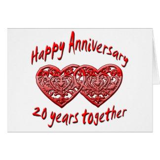 20th. Anniversary Greeting Card